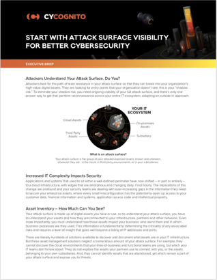 Attack Surface Visibility